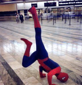 maskot som spindelmannen