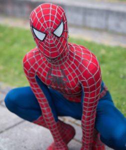 spindelmannen maskot
